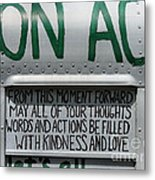 May Your Thoughts Metal Print