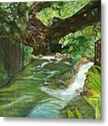 Maya Ubud Tree Bali Indonesia Metal Print