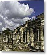 Mayan Colonnade Metal Print