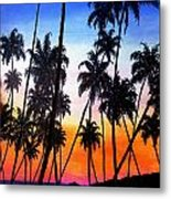 Mayaro Red Dawn Metal Print