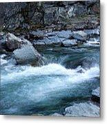 Mcdonald River Glacier National Park - 4 Metal Print