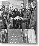 Mckinley Taking Oath, 1897 Metal Print