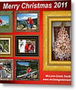 Mclanegoetz Studio Christmas Card Metal Print