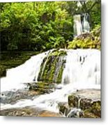 Mclean Falls In The Catlins Of South New Zealand Metal Print