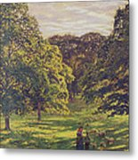 Meadow Scene  Metal Print by John William Buxton Knight
