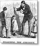 Measuring Children, 1876 Metal Print
