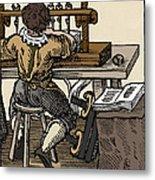 Mediaeval Book Manufacture Metal Print