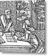 Medieval Arithmetic Metal Print