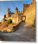 Medieval Carcassonne Metal Print
