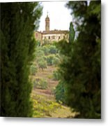 Medieval Church Of Tuscany Metal Print by David Letts