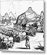 Medieval Tartar Huts Metal Print