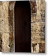Medieval Welcome Metal Print by Cecil Fuselier