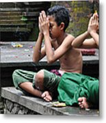 Meditation In Bali Metal Print