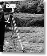 Mekometre Surveying, 1967 Metal Print by National Physical Laboratory (c) Crown Copyright
