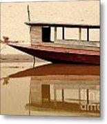 Mekong Reflection 2 Metal Print
