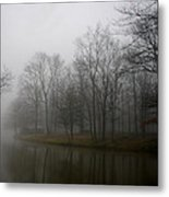 Melancholy Foggy Evening Metal Print