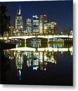 Melbourne Lights Metal Print