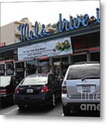 Mel's Drive-in Diner In San Francisco - 5d18027 Metal Print by Wingsdomain Art and Photography