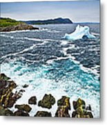 Melting Iceberg In Newfoundland Metal Print