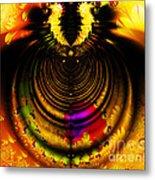 Melting Pot . Gold . Horizontal Cut . S8a.s11 Metal Print