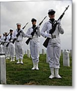 Members Of A Ceremonial Honor Guard Metal Print