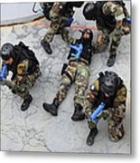 Members Of The Greek Navy Practice Metal Print
