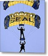 Members Of The U.s. Navy Parachute Metal Print