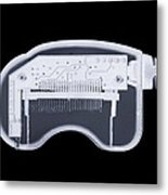 Memory Card Reader, X-ray Artwork Metal Print by Mark Sykes