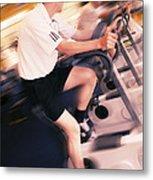 Men Exercising Metal Print