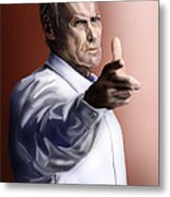 Men Must Know Their Limitations-clint Eastwood Metal Print