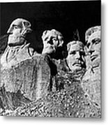Men Working On Mt. Rushmore Metal Print
