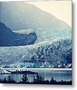 Mendenhall Glacier On A Foggy Morning Metal Print