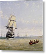 Meno War Schooners And Royal Navy Yachts Metal Print