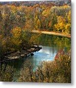 Meramec River Bend At Castlewood State Park Metal Print