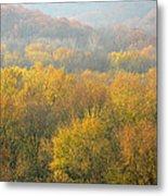 Meramec River Valley Autumn At Castlewood State Park In Missouri Metal Print