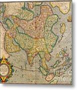 Mercators Map Of Asia Metal Print