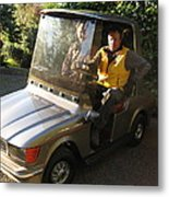 Mercedes Golf Cart Metal Print
