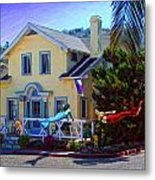 Mermaid House Metal Print