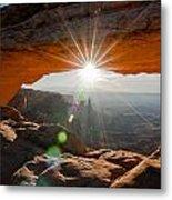 Mesa's Arch View Metal Print