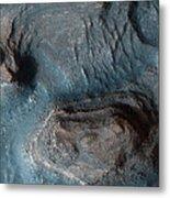 Mesas In The Nilosyrtis Mensae Region Metal Print