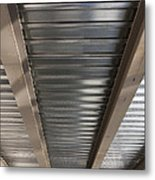 Metal Decking Over Structural Steel Metal Print by Don Mason