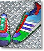 Metal Grate Sport Shoe Metal Print