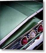 Metalic Green Impala Wing Vingage 1960 Metal Print by Douglas Pittman