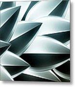 Metallic Feathers, Full Frame Metal Print by Ralf Hiemisch