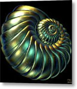Metallic Nautiloid Metal Print