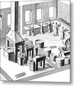 Metalworker, 18th Century Metal Print