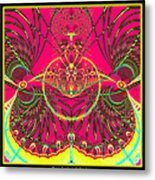 Metamorphosis  Emerging From The Cocoon Fractal 125 Metal Print