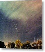 Meteor Perseid Meteor Shower Metal Print