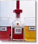 Methyl Orange Indicator Metal Print