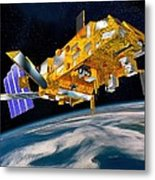 Metop Weather Satellite, Artwork Metal Print